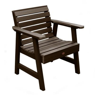 Weatherly Weathered Acorn Recycled Plastic Outdoor Lounge Chair