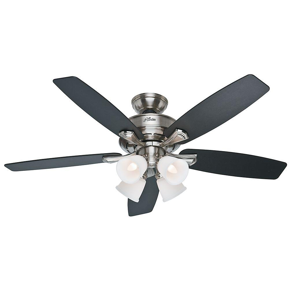 Hunter belmor 52 in indoor white ceiling fan with light kit 52060 hunter belmor 52 in indoor white ceiling fan with light kit 52060 the home depot aloadofball Image collections
