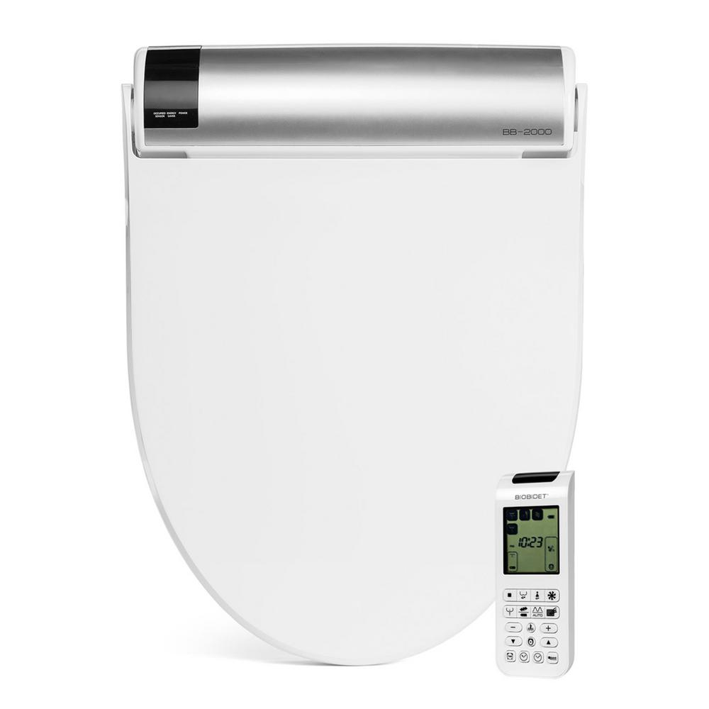 bioBidet Bliss Electric Bidet Seat for Elongated Toilets in White