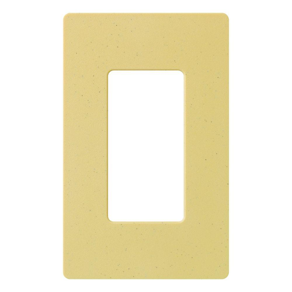 Claro 1 Gang Decora Wall Plate - Goldstone