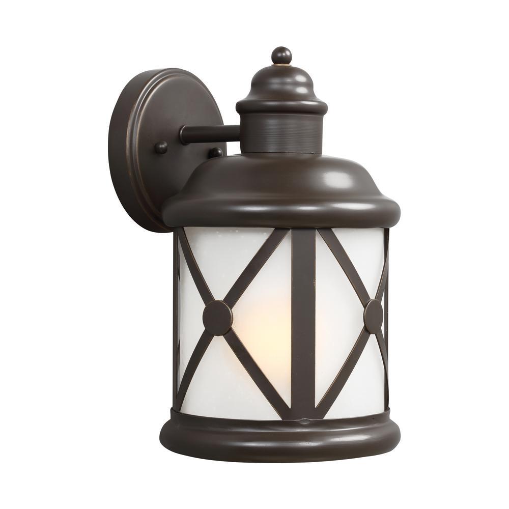 Yosemite Home Decor 1 Light Exterior Lantern In Black
