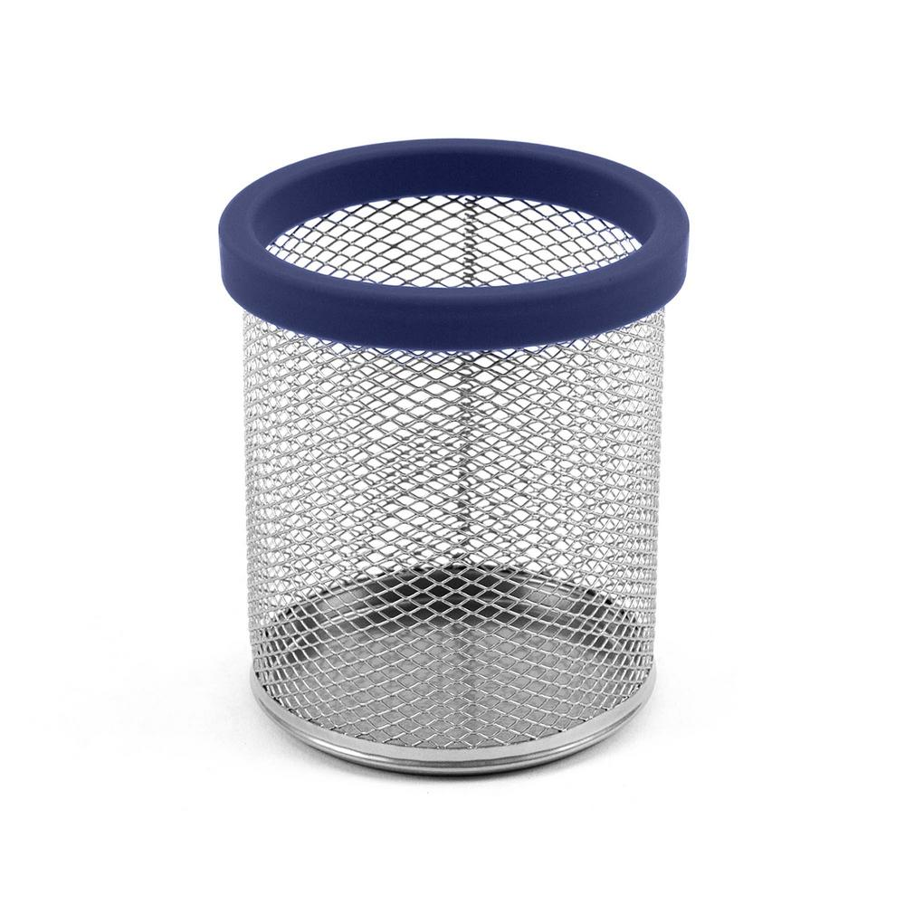 Digit Mesh Pencil Cup, Navy