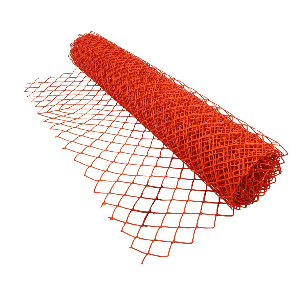 4 X 100 Ft Heavy Duty Orange Vinyl Diamond Grid