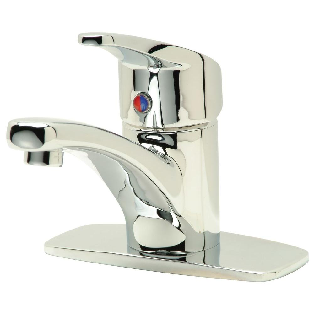 Aquasense Single Hole 1-Handle Bathroom Faucet in Chrome