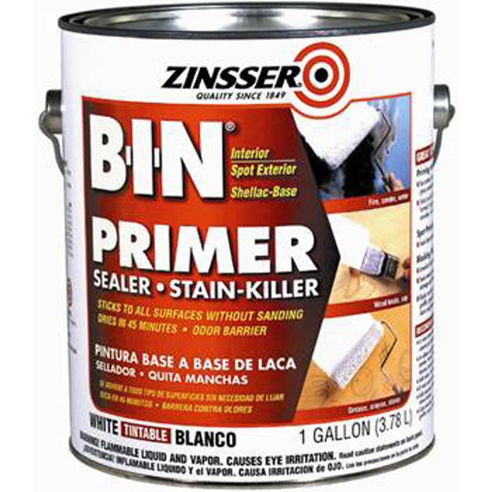 Zinsser 1 gal. B-I-N Shellac-Based White Interior/Spot Exterior Primer and Sealer (2-Pack)