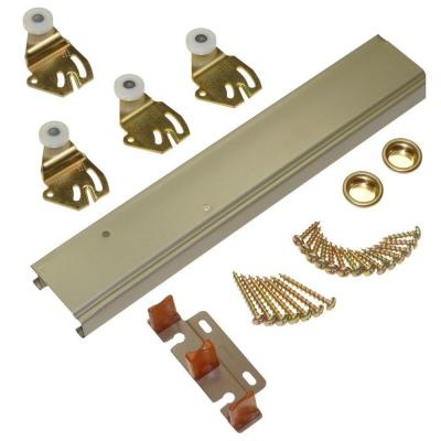 1166 Series 48 in. Sliding Bypass Track and Hardware Set for 2 Bypass Doors