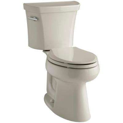 Highline 2-piece 1.6 GPF Single Flush Elongated Toilet in Sandbar