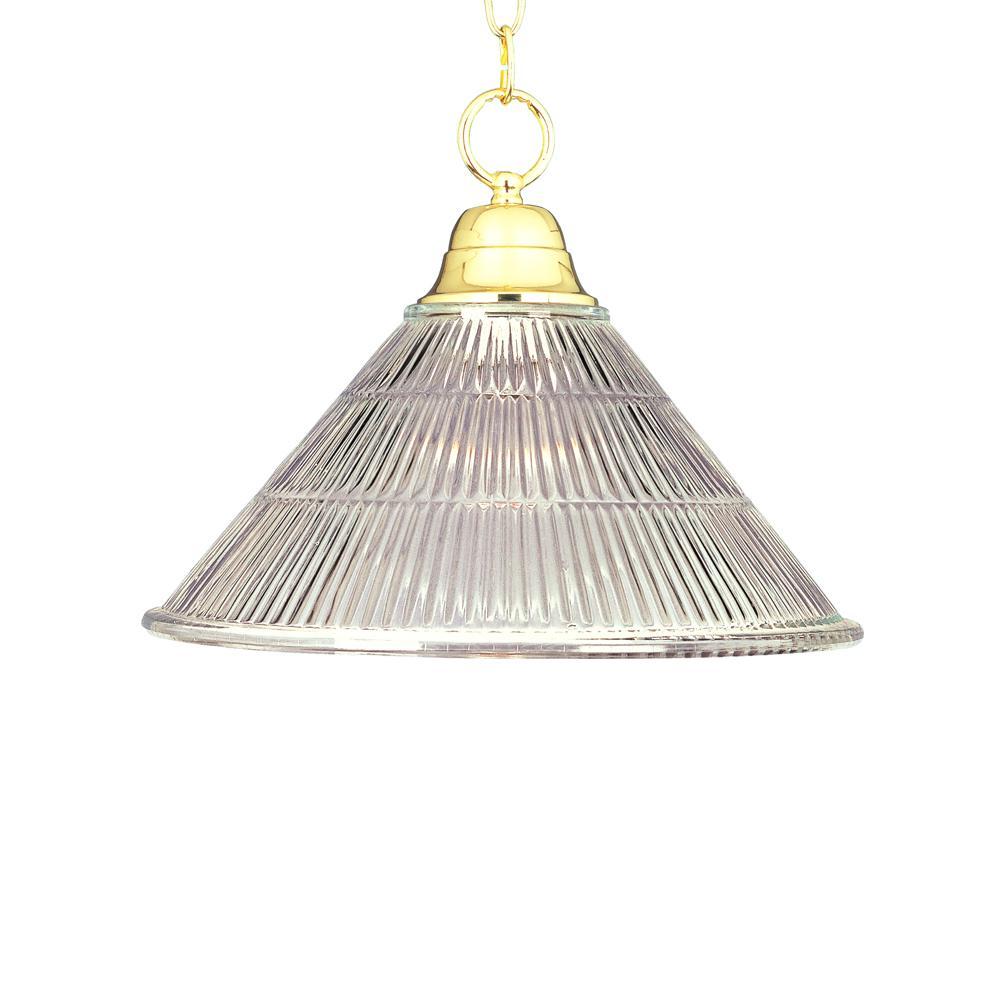 Maxim 1-Light Polished Brass Invert Bowl Pendant