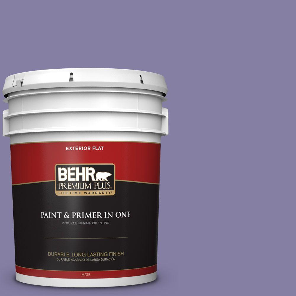 5-gal. #640D-6 Chinese Violet Flat Exterior Paint