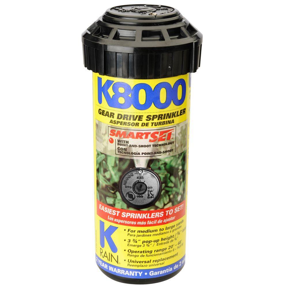 K8000 Professional Pop-Up Gear-Drive Sprinkler