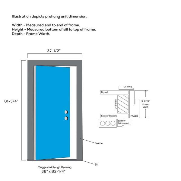 Mmi Door 36 In X 80 In Celeste Left Hand Inswing 4 Lite Clear Low E Glass Painted Steel Prehung Front Door On 6 9 16 In Frame Z0353626l The Home Depot