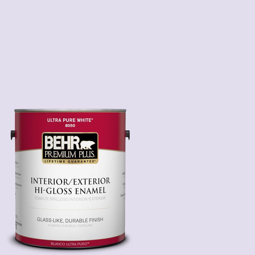 BEHR Premium Plus 1-gal. #650C-2 Powdery Mist Hi-Gloss Enamel Interior/Exterior Paint