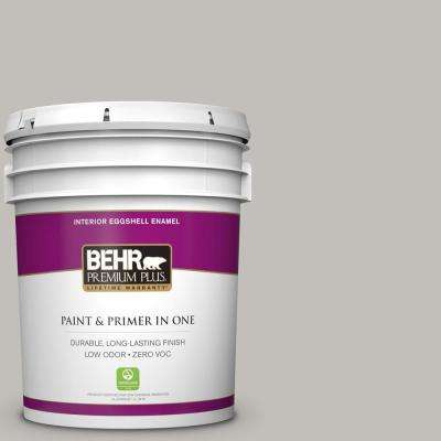 5 gal. #PPU18-10 Natural Gray Eggshell Enamel Zero VOC Interior Paint and Primer in One
