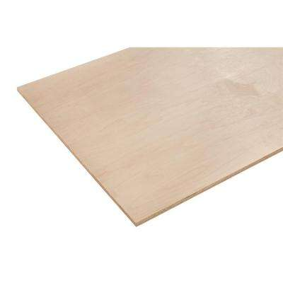 1/2 in. x 2 ft. x 8 ft. Europly Maple Plywood Project Panel (Free Custom Cut Available)