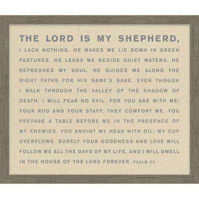 """Homespun Faith """"The Lord Is My Shepherd"""" By Carpentree Framed Natural Canvas"""