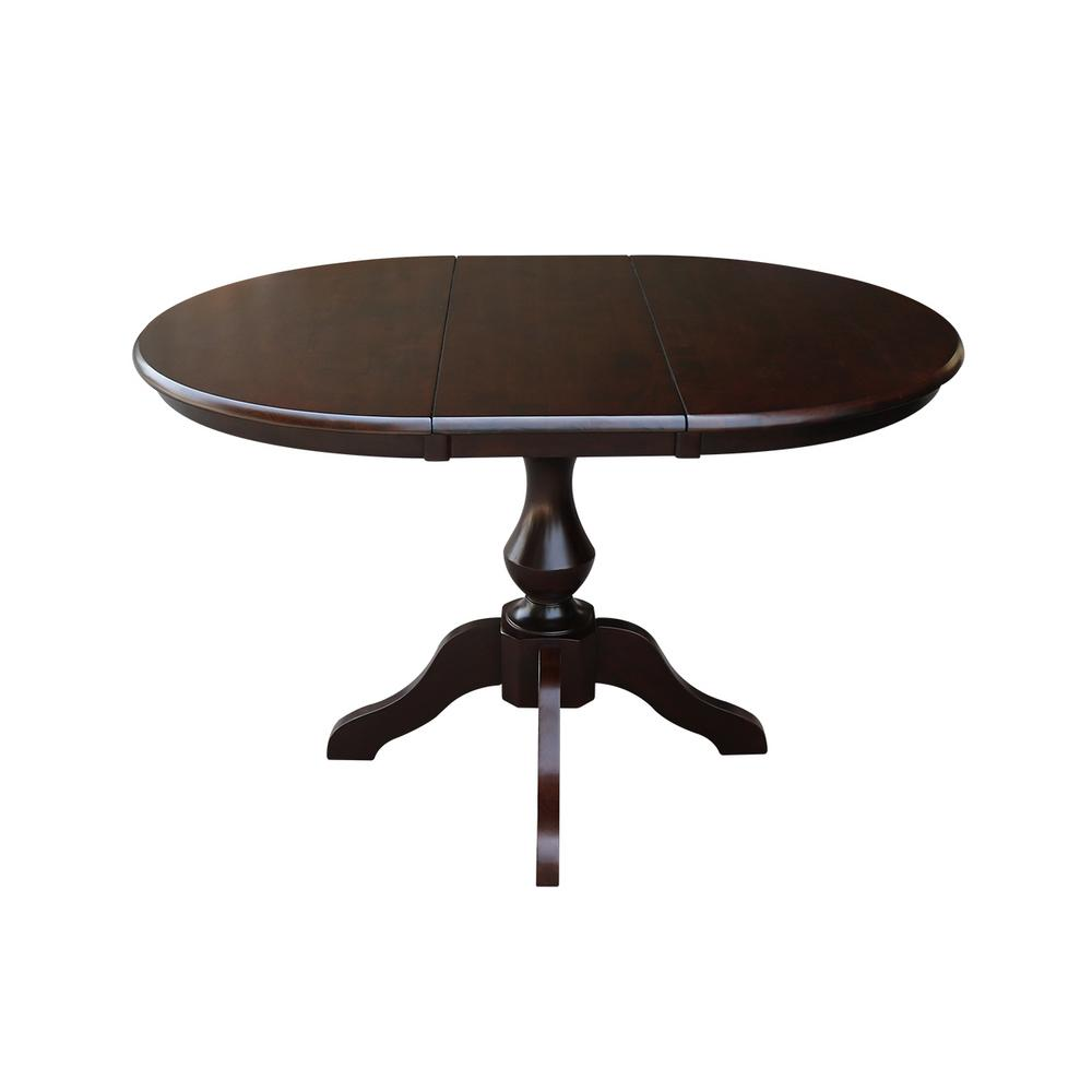 International Concepts Olivia Mocha Oval Solid Wood Pedestal Dining Table