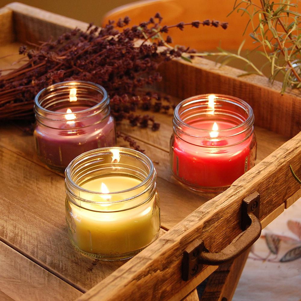 6275d701a036 Scented Candles - Natural Fresh Collection in 3 oz. Glass Mason Jars (6  Count)