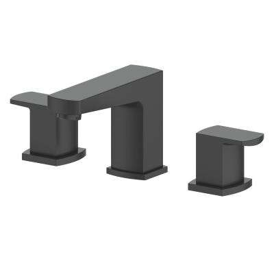 Marlette 8 in. Widespread 2-Handles Bathroom Faucet in Electric Matte Black