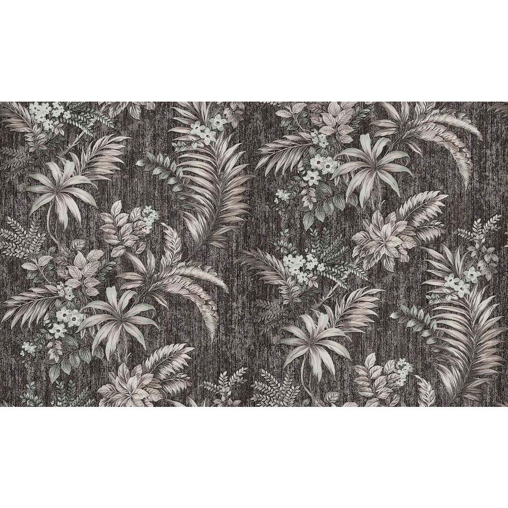 Dis Legolas Black Botanical Wallpaper