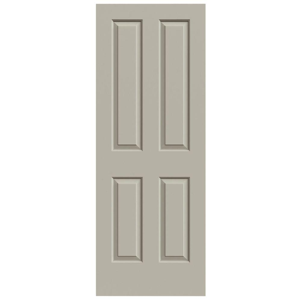 JELD-WEN 28 in. x 80 in. Coventry Desert Sand Painted Smooth Molded Composite MDF Interior Door Slab