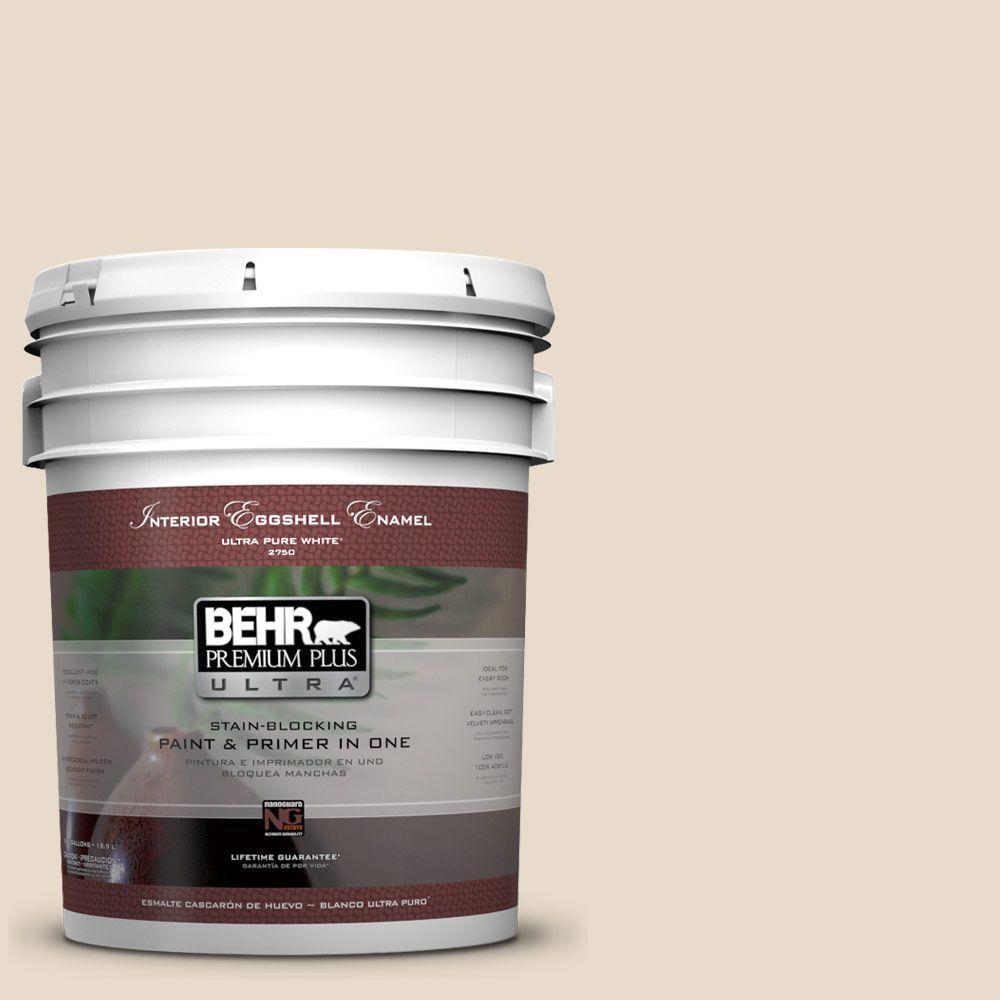 BEHR Premium Plus Ultra 5-gal. #S240-1 Creme Fraich Eggshell Enamel Interior Paint