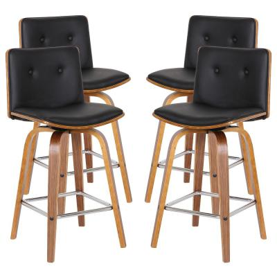 Summer 26 in. Black Barstool (Set of 4)