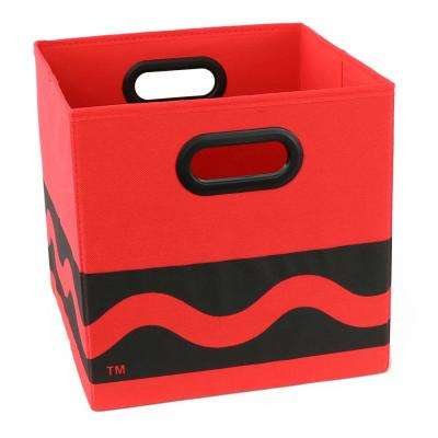 Crayola Serpentine 10.5 in. x 10.5 in. Red Folding Storage Bin