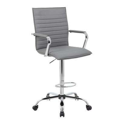 53.5 in. Ribbed Stitched Drafting Stool