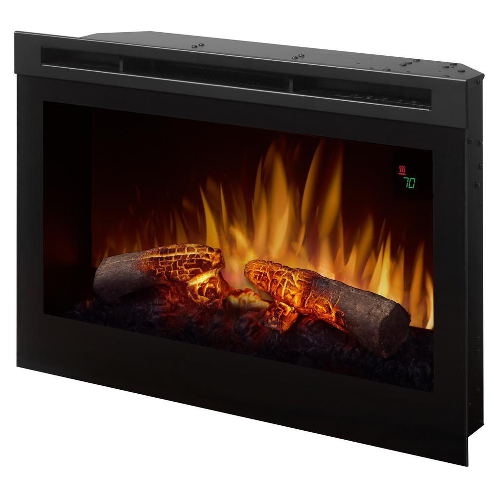 dimplex 25 in electric firebox fireplace insert dfr2551l the home rh homedepot com  wood burning fireplace firebox insert