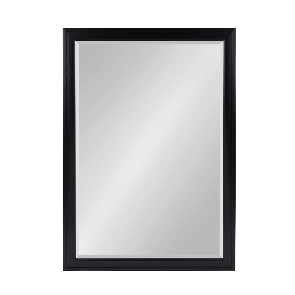 Bosc 23.5 in. W x 35.5 in. H Framed Rectangular Beveled Edge Bathroom Vanity Mirror in Black