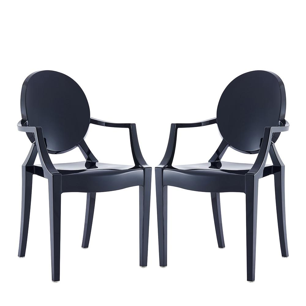 Warehouse Of Tiffany Tamik Black Arm Chair Dining (Set Of 2)
