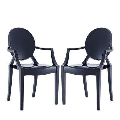 Tamik Black Arm Chair Dining (Set of 2)