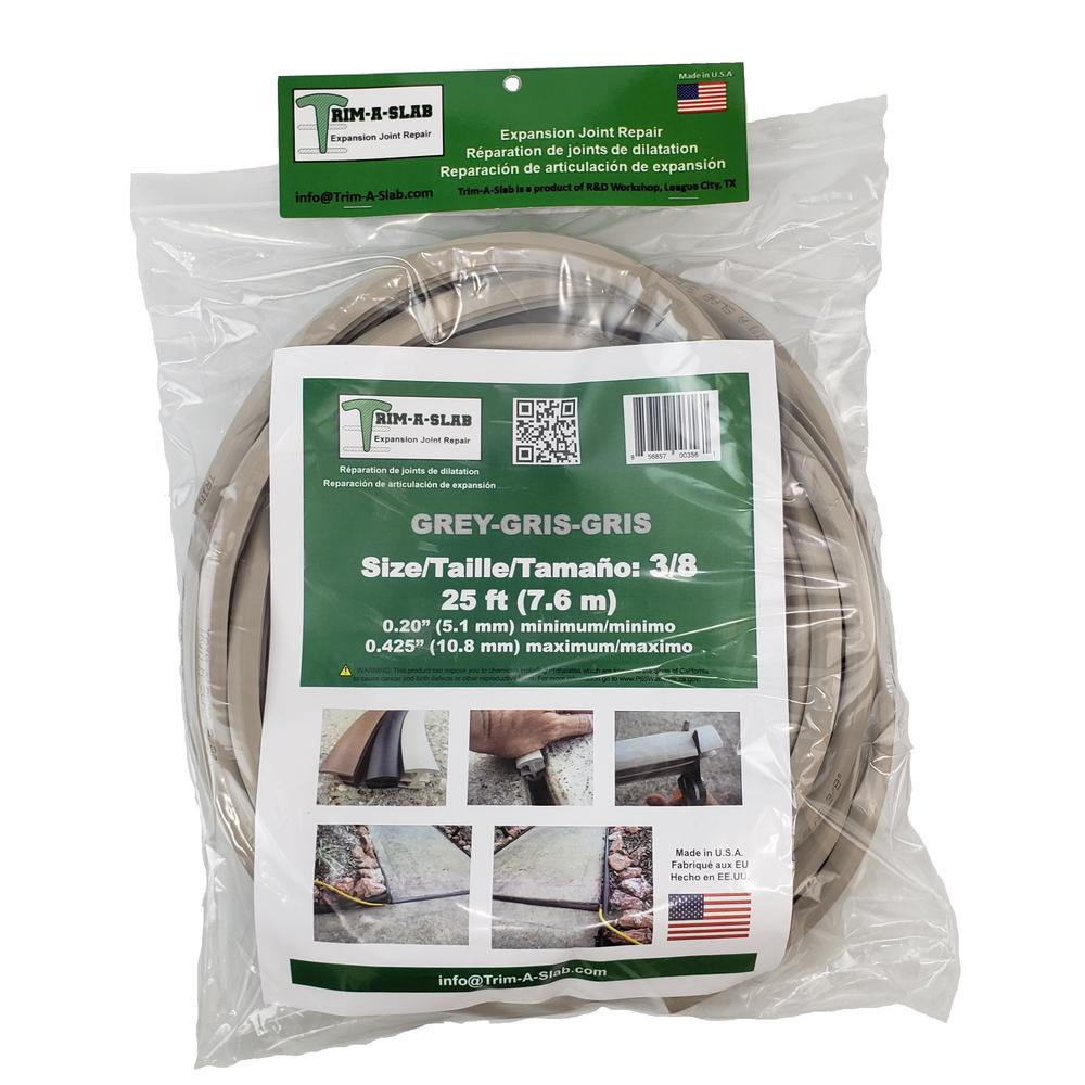 Trim-A-Slab 3/8 in  x 25 ft Concrete Expansion Joint in Grey