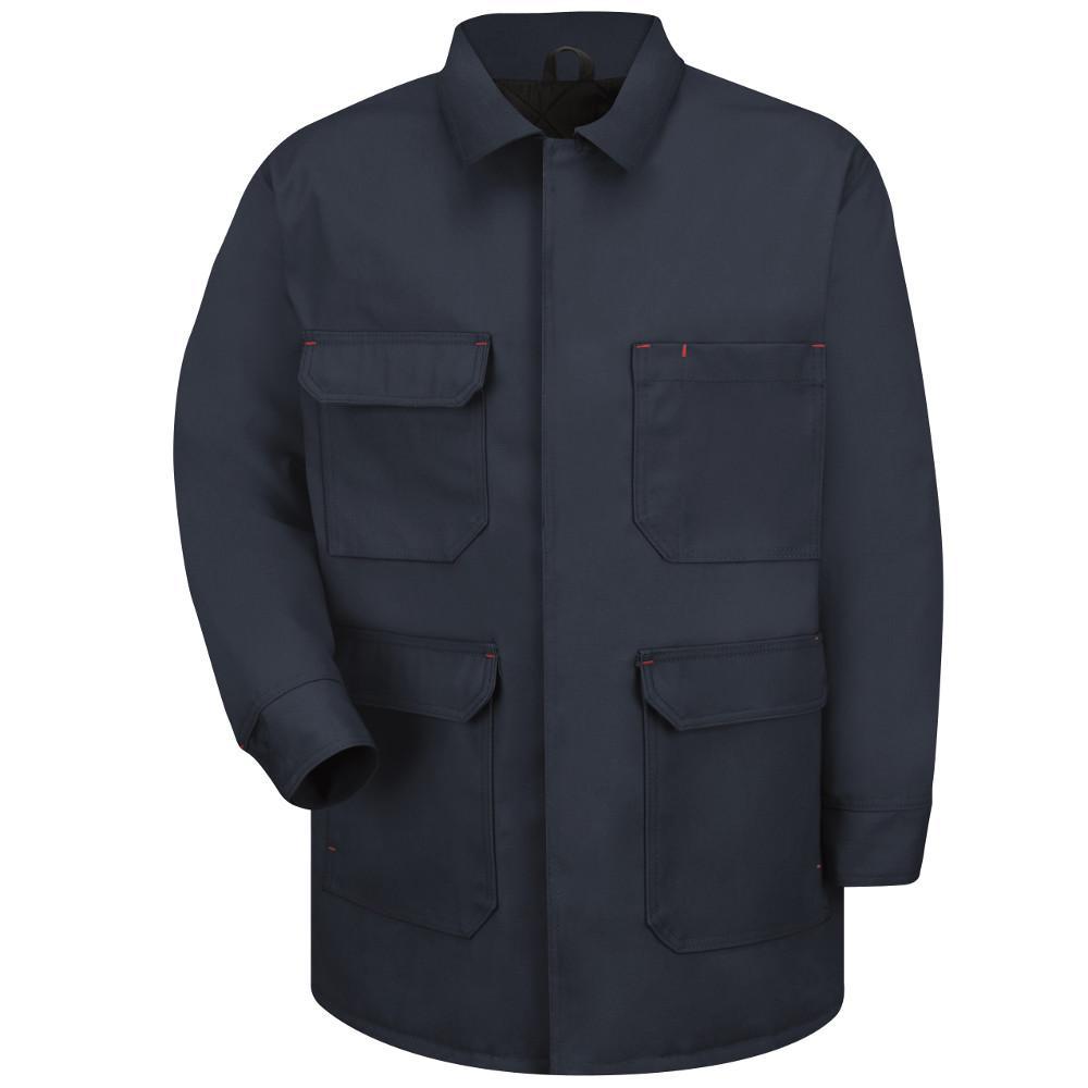 Men's Large Navy Duck Blended Duck Chore Coat