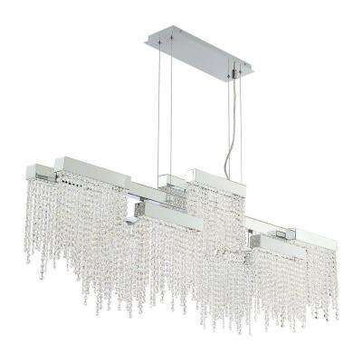 Rossi Collection 100-Watt Chrome Integrated LED Chandelier with Crystal Shade