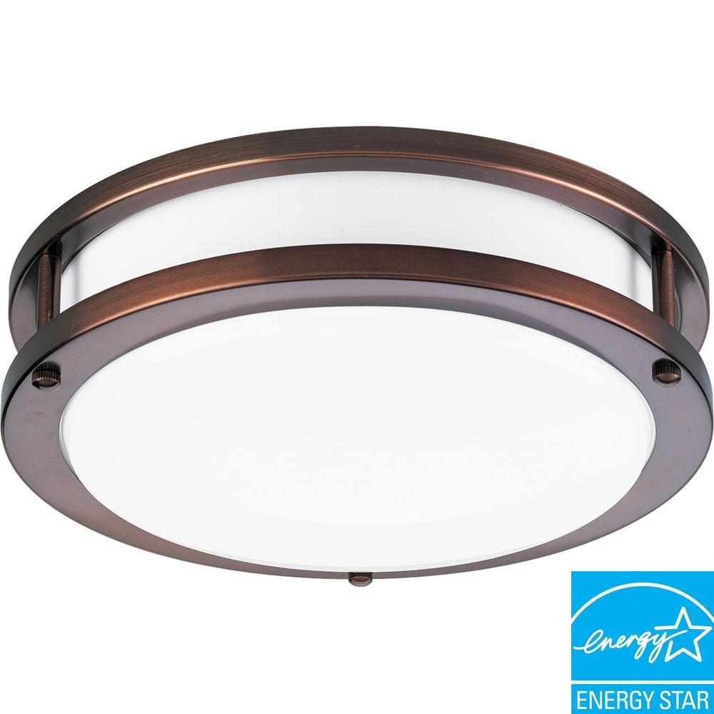 Progress Lighting 1-Light Urban Bronze Flushmount