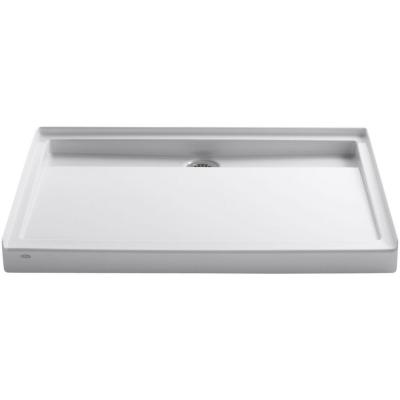 Groove 48 in. x 36 in. Single Threshold Shower Base in White