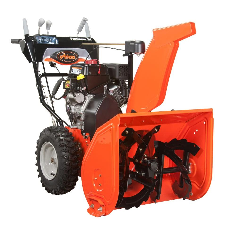 Ariens Platinum 24 in. Two-Stage Electric Start Gas Snow Blower with Auto-Turn Steering
