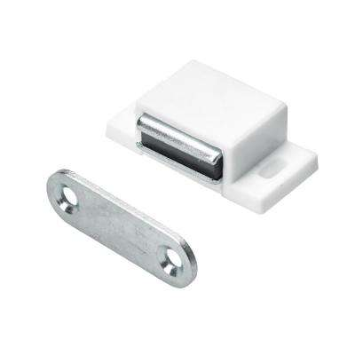 Magnetic Catch 11 lbs. with Counterplate in White (1-Pack)