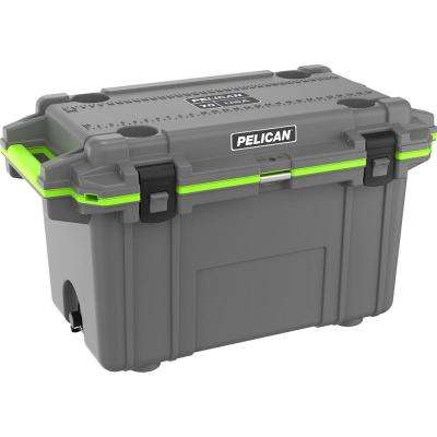 Elite 70 Qt. Insulated Chest Cooler in Dark Gray and Green