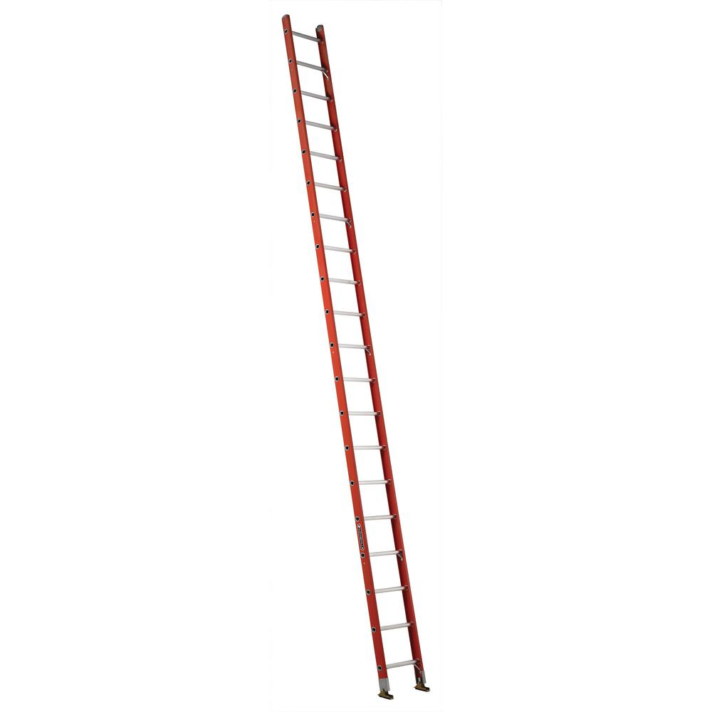 20 ft. Fiberglass Single Ladder with 300 lbs. Load Capacity Type