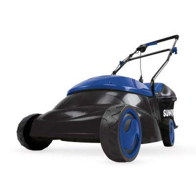14 in. 12 Amp Electric Walk Behind Push Lawn Mower, Blue