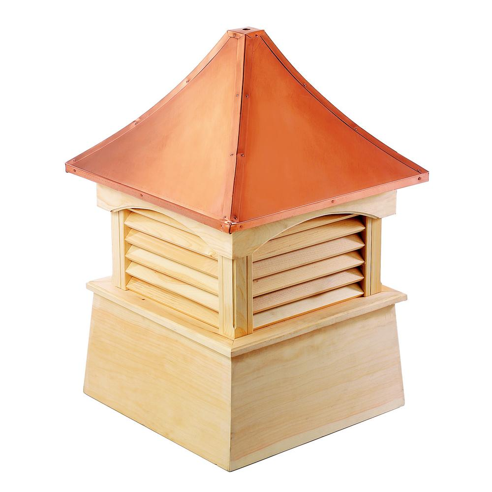 Coventry 48 in. x 69 in. Wood Cupola with Copper Roof