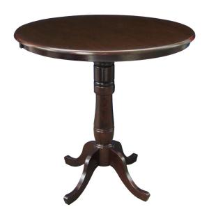 Rich Mocha Solid Wood Pub/Bar Table