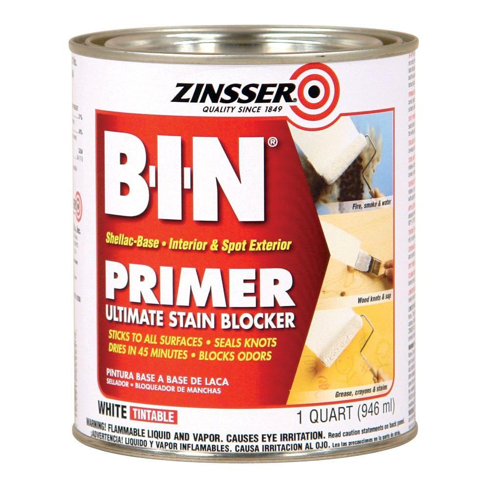 1-qt. B-I-N Shellac-Based White Interior/Spot Exterior Primer and Sealer (Case of 6)
