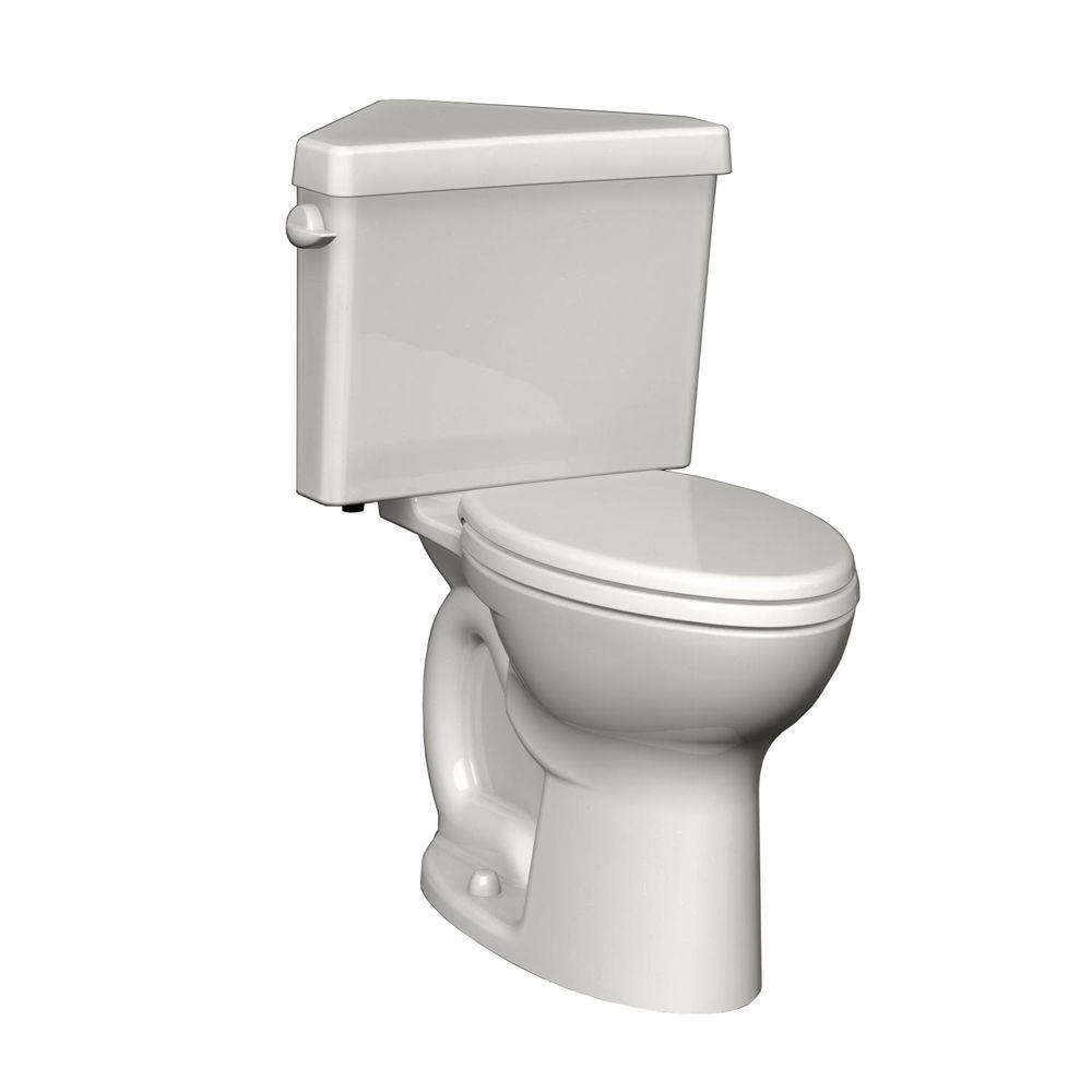 American Standard Cadet 3 Powerwash Triangle Tall Height 2 Piece 1.6 GPF  Round Toilet In
