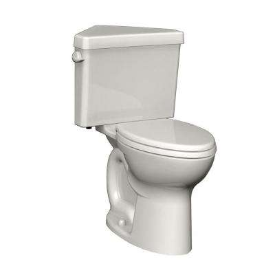 Cadet 3 Powerwash Triangle Tall Height 2-Piece 1.6 GPF Round Toilet in White, Seat Not Included