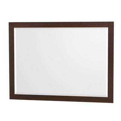 Amare 46 in. W x 33 in. H Framed Wall Mirror in Espresso