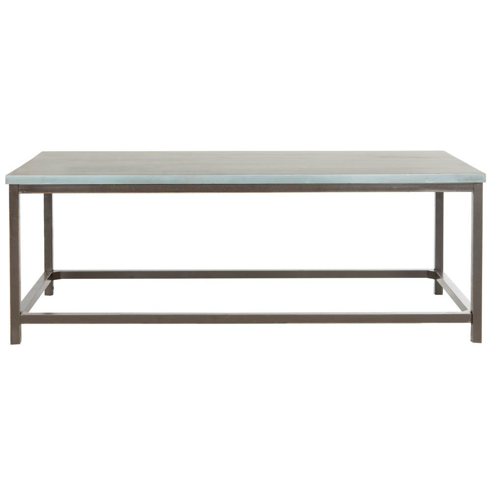 Safavieh Alec Steel Blue Coffee TableAMHB The Home Depot - Dark red coffee table