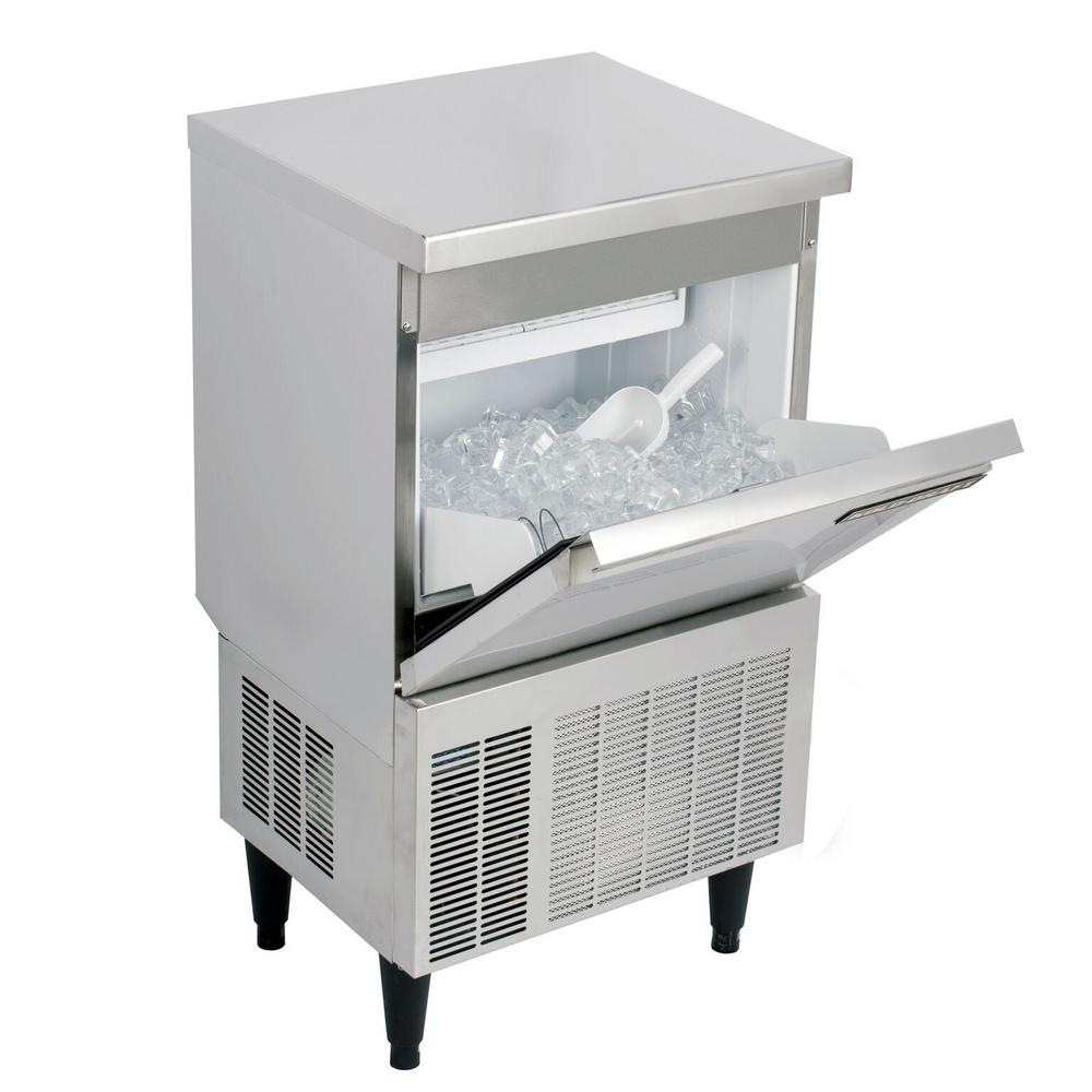 Kold Draft Cocktail Series 70 lb. Freestanding Ice Maker in Stainless Steel, Silver The KOLD-DRAFT Cocktail Series of Ice Machines provides consumers with a top-shelf choice for ice that matches their top-shelf beverage. The KOLD-DRAFT Cocktail Series produces a Large Cube measuring 1 x 1 x 1-1/4. The KOLD-DRAFT Cocktail Series consists of three machines with daily ice production of 50 lbs., 70 lbs. or 110 lbs. KOLDDRAFT equipment offers some of the best recovery rates in the industry, too. You get more ice, more often. Color: Stainless Steel.